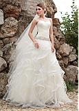 Charming Tulle Sweetheart Neckline Ball Gown Wedding Dresses With Beadings