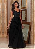 Charming Tulle & Satin Sweetheart Neckline A-Line Bridesmaid Dresses With Beaded Lace Appliques