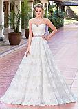 Classy Tulle & Satin Sweetheart Neckline A-Line Wedding Dresses With Lace Appliques