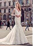 Charming Tulle & Lace V-Neck Mermaid Wedding Dresses With Beaded Lace Appliques