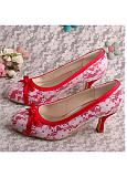 Marvelous Lace Upper Round Toe Stiletto Heel Prom Shoes