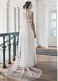Amazing Tulle Long Wedding Veil With Comb