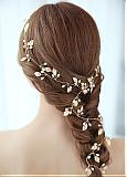 In Stock Exquisite Alloy Wedding Hair Ornament With Imitation Pearls