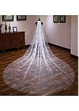 In Stock Attractive Tulle Cathedral Wedding Veil
