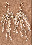 In Stock Chic Alloy Wedding Earrings With Beadings